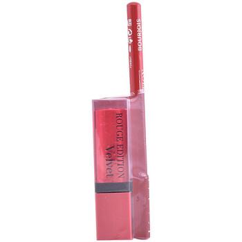 Beauty Damen Lippenstift Bourjois Rouge Edition Velvet Lipstick 13+contour Lipliner 6 Gratis