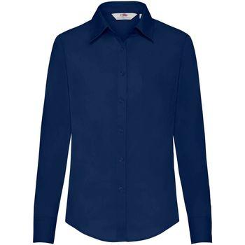 Kleidung Damen Hemden Fruit Of The Loom 65012 Marineblau