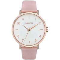 Uhren Analoguhren Nixon RELOJ  ARROW LEATHER ROSA Gold