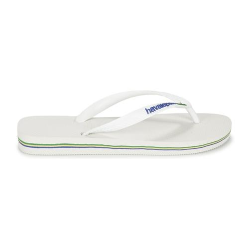 Havaianas Schuhe BRASIL LOGO Weiss  Schuhe Havaianas Zehensandalen  23,99 98e4c8