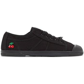 Schuhe Tennisschuhe Le Temps des Cerises Basket Basic 02 Mono Black Schwarz