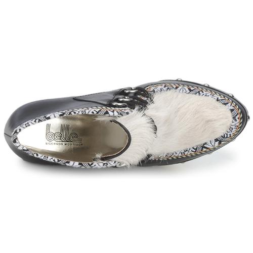 Belle by Morrison Sigerson Morrison by BLACKA Beige / Schwarz  Schuhe Ankle Boots Damen 182 f27dc4