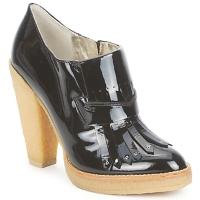 Schuhe Damen Ankle Boots Belle by Sigerson Morrison SHEEP Schwarz / Panna