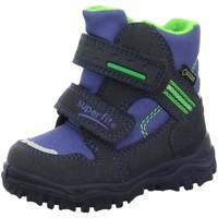 Schuhe Jungen Schneestiefel Superfit Klettstiefel 1-00044-82 blau