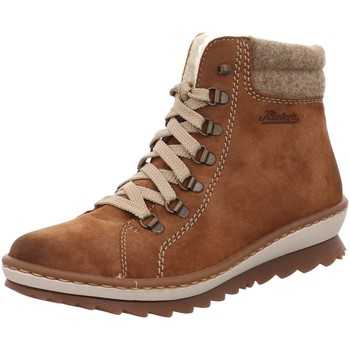 Schuhe Damen Schneestiefel Rieker Stiefeletten Z861024 Z86 Z8610-24 braun