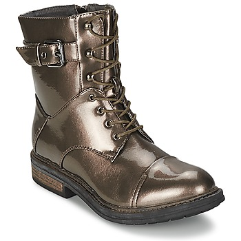 Schuhe Damen Boots Les P'tites Bombes STONE Silbern