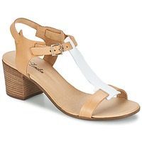 Schuhe Damen Sandalen / Sandaletten Betty London GANTOMI Camel / Weiss