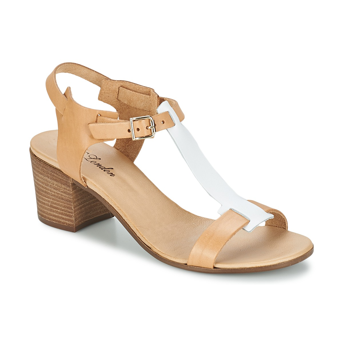 Betty London GANTOMI Camel / Weiss