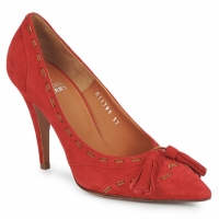 Schuhe Damen Pumps Michel Perry CAMOSCIO Rubinrot