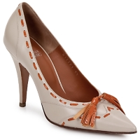 Schuhe Damen Pumps Michel Perry CAMOSCIO Beige