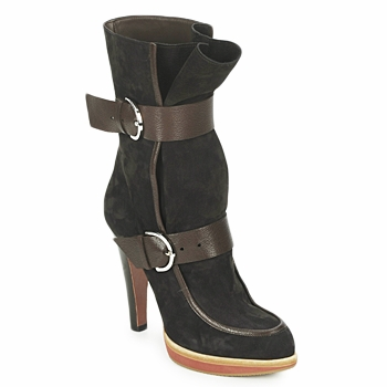 Schuhe Damen Low Boots Michel Perry WILD Braun / Goldig