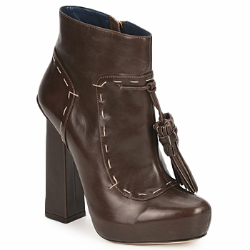 Schuhe Damen Low Boots Pollini PA2405 Weiss / Grün / Schwarz