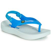 Schuhe Kinder Sandalen / Sandaletten Ipanema ANATOMIC SOFT BABY Blau / Weiss
