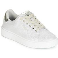 Schuhe Mädchen Sneaker Low Kappa SAN REMO KID Weiss / Silbern