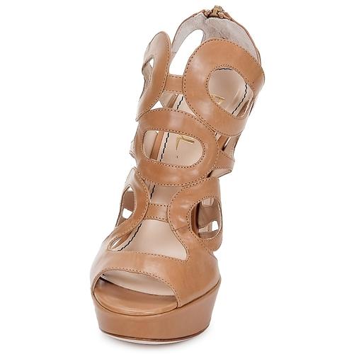 Jerome C. Rousseau ISY Camel /  Schuhe Sandalen / Camel Sandaletten Damen 412 1cecd3