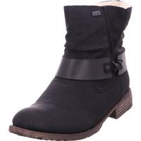 Schuhe Damen Stiefel Rieker - 74736-00 schwa/schw 00