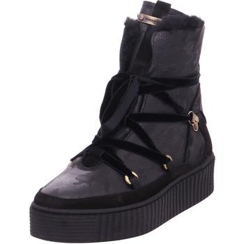Schuhe Damen Schneestiefel Hilfiger COZY WARMLINED LEATHER BOOT BLACK
