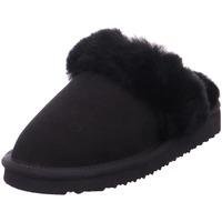 Schuhe Damen Hausschuhe Black Da.-Hausschuh Warmfutter BLACK LE 004