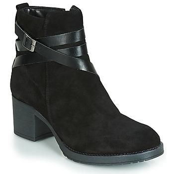 Schuhe Damen Boots André MIDWEST Schwarz