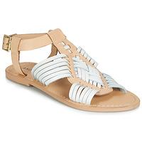 Schuhe Damen Sandalen / Sandaletten André NIRVANA Weiss