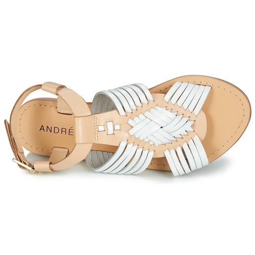André NIRVANA NIRVANA NIRVANA Weiss  Schuhe Sandalen   Sandaletten Damen 268e42