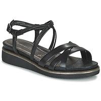 Schuhe Damen Sandalen / Sandaletten Tamaris EDA Schwarz