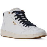 Schuhe Herren Sneaker Blauer WHITE MURRAY HI Bianco