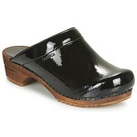 Schuhe Damen Pantoletten / Clogs Sanita CLASSIC PATENT Schwarz