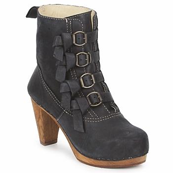 Schuhe Damen Low Boots Sanita ELM CONE Schwarz