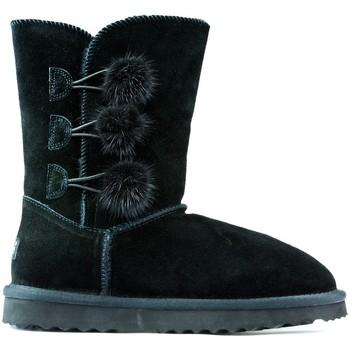 Schuhe Kinder Boots Oca Loca Stiefel Oca Loca Pompon SCHWARZ