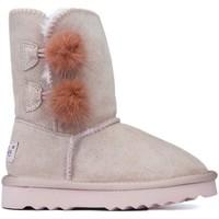 Schuhe Kinder Boots Oca Loca Stiefel Oca Loca Pompon Rose ROSA