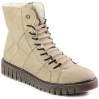 Schuhe Damen Boots Rieker Y342060 Beige