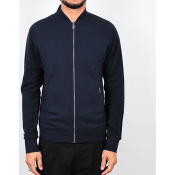 Kleidung Herren Jacken Ben Sherman Herringbone Tipped Zip Jacket - Navy 19