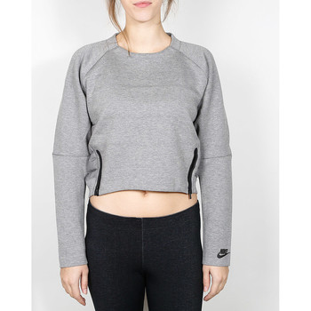 Kleidung Damen Pullover Nike Nike Wmns Tech Fleece Aeroloft Crew - Carbon Heather / Black 534