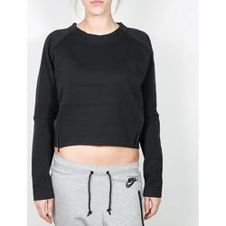 Kleidung Damen Pullover Nike Nike Wmns Tech Fleece Aeroloft Crew - Black / Black 38