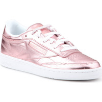 Schuhe Damen Sneaker Low Reebok Sport Lifestyle Schuhe  Club C 85 S Shine CN0512 rosa