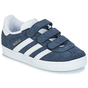 Schuhe Kinder Sneaker Low adidas Originals GAZELLE CF I Marine / Weiss