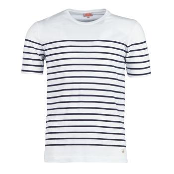 Kleidung Herren T-Shirts Armor Lux YAYALOUT Weiss / Marine