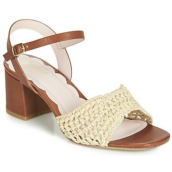 Schuhe Damen Sandalen / Sandaletten Miss L'Fire MIRO Braun