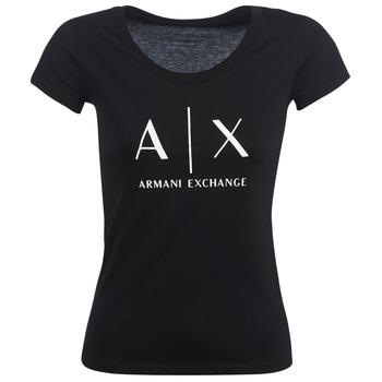 Kleidung Damen T-Shirts Armani Exchange HELBATANTE Schwarz