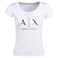 Kleidung Damen T-Shirts Armani Exchange HELIAK Weiss