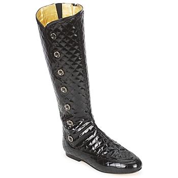 Schuhe Damen Klassische Stiefel French Sole PUMPKIN Schwarz