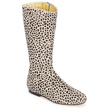 Schuhe Damen Klassische Stiefel French Sole PATCH Leopard