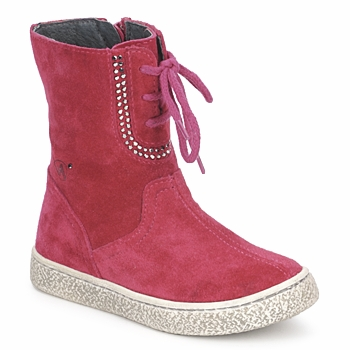 Schuhe Mädchen Boots Naturino VELOUR Himbeer