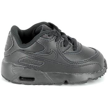 Schuhe Kinder Sneaker Low Nike Air Max 90 Cuir BB Noir 833416 001 Schwarz
