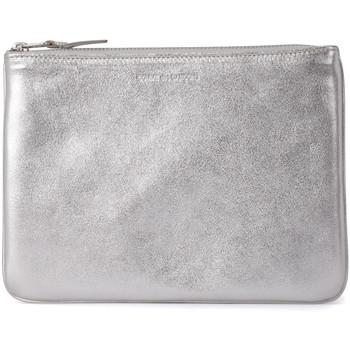 Taschen Damen Geldtasche / Handtasche Comme Des Garcons Comme des Garçons Etui Wallet in Leder Silber Silber