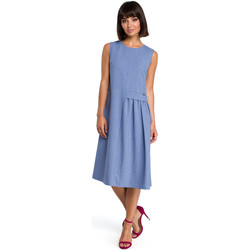 Kleidung Damen Kleider Style S154 Blazer mit einem Knopf - marineblau