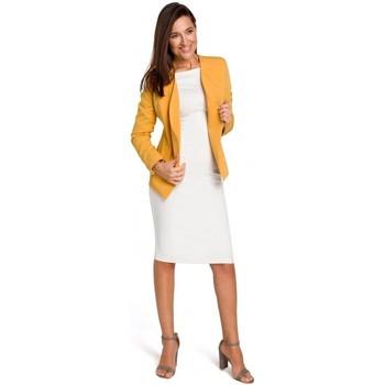 Kleidung Damen Jacken / Blazers Style S140 Maßgeschneiderter Blazer mit Reißverschlüssen - gelb