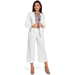 Kleidung Damen Overalls / Latzhosen Style S140 Maßgeschneiderter Blazer mit Reißverschlüssen - ecru