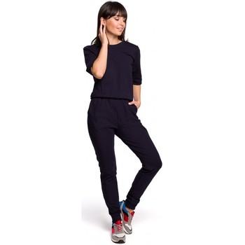Kleidung Damen Overalls / Latzhosen Be B105 Kleid in A-Linie mit Godet - militärgrün